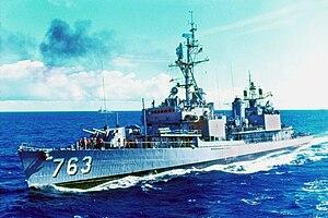 USS William C Lawe (DD-763) in the Atlantic 1967