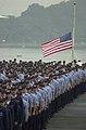 US Navy 020911-N-1854W-014 morning colors aboard USS Kitty Hawk.jpg