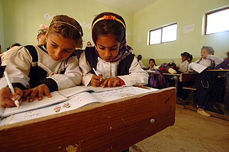 Pen pal - Adopt a School Program, connecting Iraqi schools with U.S. schools to help with supplies and start a pen pal program