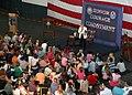 US Navy 060510-N-7906C-050 Vice President Dick Cheney's wife Lynne, talks to USS George Washington (CVN 73) Sailor's children in the hangar bay.jpg