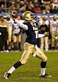 US Navy 061202-N-0696M-107 Navy Midshipmen quarterback Kaipo-Noa Kaheaku-Enhada (10), from Kapolei, Hawaii, winds up to complete a pass during the 107th playing of the Army vs. Navy football game.jpg