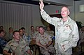 US Navy 070725-N-9433H-002 Commander, Navy Reserve Force, Vice Adm. John G. Cotton address topics of concern to reserve Sailors during an all hands call at Naval Support Activity Bahrain.jpg