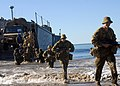 US Navy 090715-N-6692A-110 Members of an Australian Army forward support battalion unit disembark from U.S. Navy Landing Craft Utility (LCU) 1634.jpg