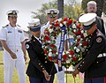 US Navy 100515-N-8863V-331 Sailors and JROTC students place a wreath honoring fallen service members during the inaugural Inland Empire Armed Forces Day event at NSWC Corona.jpg