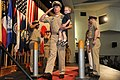 US Navy 100916-N-2858S-372 Chief Aviation Structural Mechanic Vincent Rock is piped through side boys with his son for the first time as a chief pe.jpg