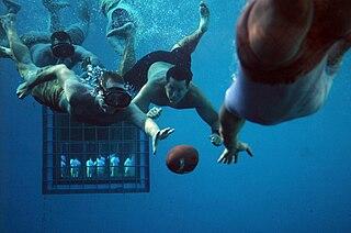 Underwater football Underwater team sport using snorkeling equipment and an American football