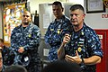 US Navy 110819-N-YR391-006 Master Chief Petty Officer of the Navy (MCPON) Rick D. West speaks to Sailors assigned to the guided-missile frigate USS.jpg