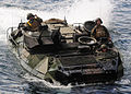 US Navy 111101-N-WJ771-131 An amphibious assault vehicle assigned to the 31st Marine Expeditionary Unit (31st MEU) enters the well deck of the forw.jpg
