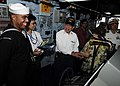 US Navy 111112-N-WJ771-080 Seaman Christopher M. Edmonson describes navigational equipment to members of the Japan Maritime Self-Defense Force on t.jpg