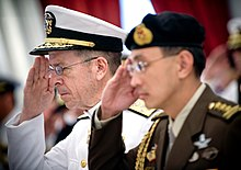 US Navy Admiral Mike Mullen, chairman of the Joint Chiefs of Staff, and Singaporean Chief of Defence Force Lieutenant-General Desmond Kuek Bak Chye, Singapore - 20080529.jpg