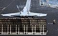 US Navy http-www.navy.mil-management-photodb-photos-100603-N-4236E-018 An F-A-18C Hornet prepares to catapult from USS Dwight D. Eisenhower (CVN 69).jpg