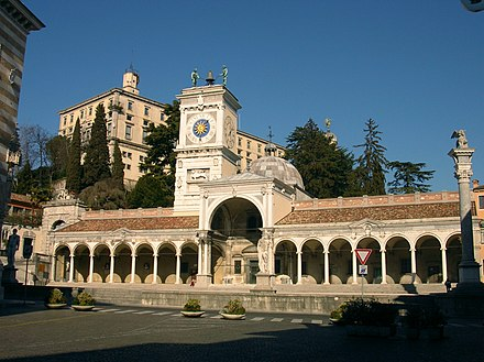 The Venetian-style Piazza Liberta in Udine. The city became de facto capital of Friuli. Udine-PiazzaLiberta.jpg