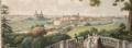 Udsigt af Helsingør, Kronborg og Øresund imellem kysterne af Sjælland og Skaane tegnet paa terrassen i Haugen ved Marienløst af S.L Lange 180.png