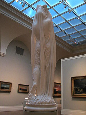 Chauncey Ives - Light shines through the back of Undine's garment.