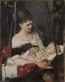 Ung mor som vaggar sitt barn (Emma Ekwall) - Nationalmuseum - 101574.tif