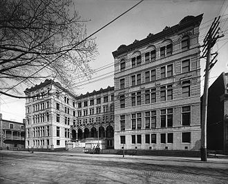Université de Montréal - The former main building of the university from 1895 to 1942. The building is located in Montreal's Quartier Latin.