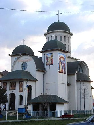 Urziceni - The Orthodox church in the city center