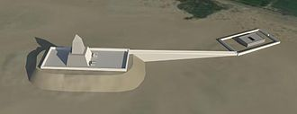 Userkaf - Userkaf sun Temple. Rendered image of a 3d model