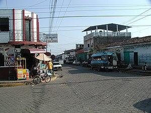 Usulután - A typical street scene in Usulután