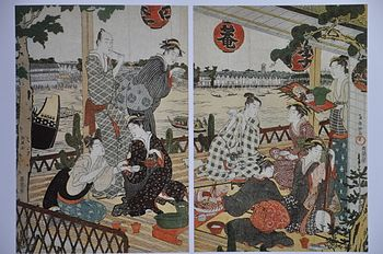 This woodcut print by Kubo Shunman, (not Utama...