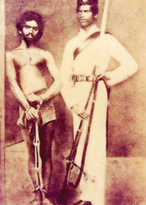 Utuwankande Sura Saradiel - Sura Saradiel's lifelong friend Mammale Marikkar after taken into Custody in 1864.