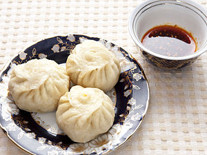 Dumpling - Uyghur manta, a variety of Central Asian manti