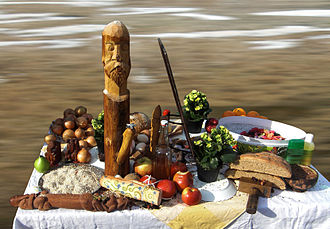 Modern Paganism - A Heathen shrine to the god Freyr, Sweden, 2010