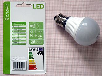 Lumen (unit) - A standard LED lamp capable of producing 470 lumens. It consumes about one sixth the energy of an incandescent light bulb producing the same light.