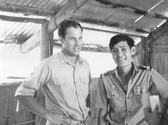 Army of the Republic of Vietnam - USCGC Sherman's doctor and a South Vietnamese corpsman at a medical Civil Action Patrol in a small Vietnamese village.