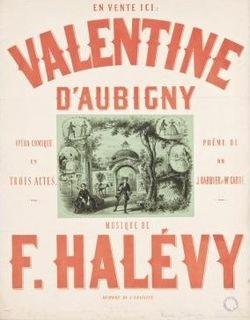 <i>Valentine dAubigny</i> opera