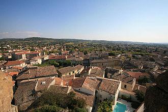 Valréas - A view over the roofs, to the south of the village of Valréas