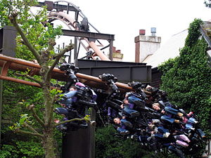 Suspended roller coaster - The Vampire at Chessington World of Adventures