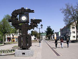 Varėna - City clock