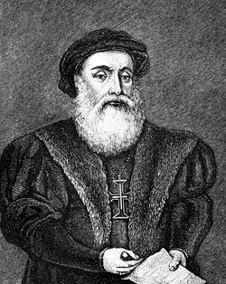 Vasco da Gama in Narrative and Critical History of America 1886.jpg