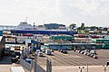 Vehicles lining up to embark at the continental ferry port, Portsmouth - geograph.org.uk - 499738.jpg