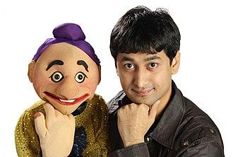 Satyajit Padhye - CA Satyajit Padhye with his puppet