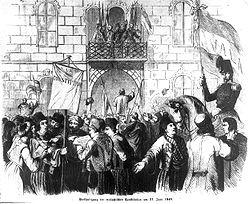 Verkündigung der walachischen Constitution am 27. Juni 1848