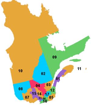 Résultats de recherche d'images pour «région administrative du québec»