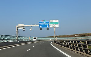 A16 autoroute - The A16 motorway on the Echinghen viaduct near Boulogne-sur-Mer (Pas-de-Calais)