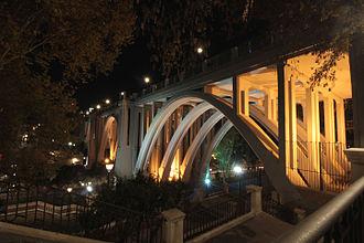 Segovia Viaduct - Night view of Segovia Viaduct.