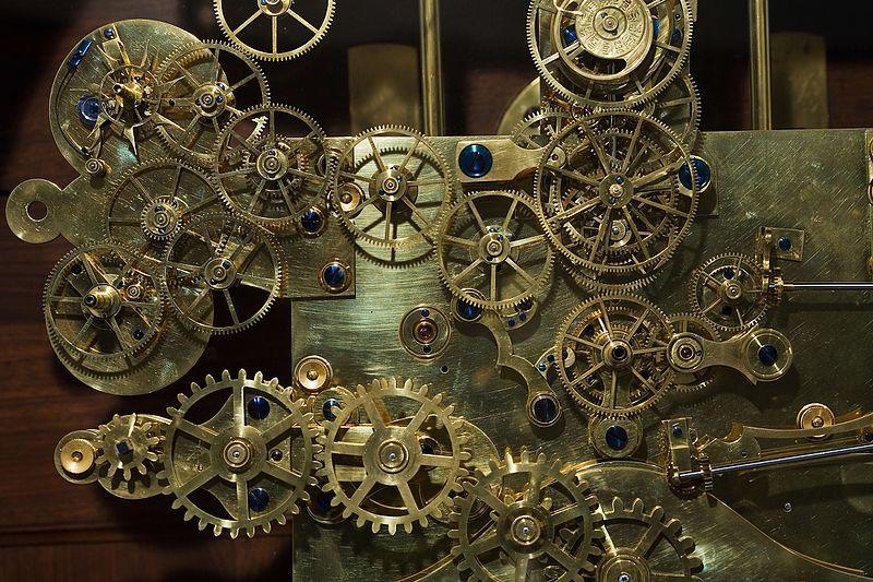 File:Vienna - Vintage Franz Zajizek Astronomical Clock machinery - 0537.jpg