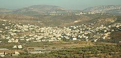 View of Anabta from the nearby town of Bal'a