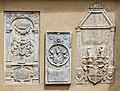 Villach Innenstadt Kirchenplatz 12 Pfarrkirche hl. Jakob S-Wand drei Epitaphien 26082018 3701.jpg