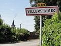 Villers-le-Sec (Aisne) city limit sign.JPG