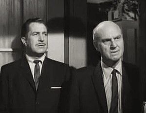 The Bat (1959 film) - Vincent Price and Gavin Gordon in The Bat