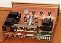 Vintage Sherwood 64 W. Stereo Amplifier (Rear View), Model S-5500 II, 9 Vacuum Tubes, Made In USA, Circa 1965 (33669804081).jpg