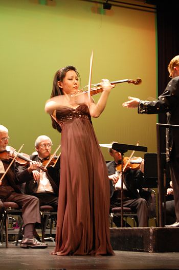 English: Susanne Hou performing the Mendelssoh...