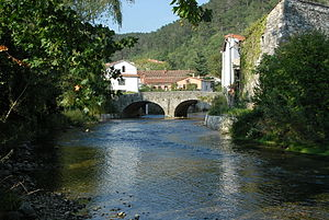Vipava (river) - The Vipava in Vipava, flowing under the Tabor Bridge