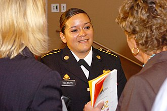 Virginia Women in History - Image: Virginia Guard Bronze Star recipient honored at Virginia Women in History event 120329 A DO111 009