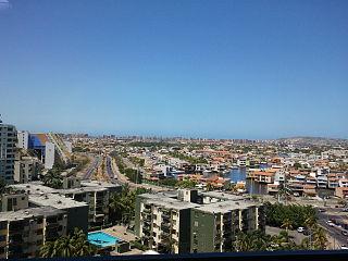 Puerto la Cruz City in Anzoátegui, Venezuela